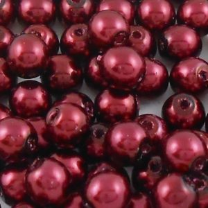 czech-4mm-round-glass-pearl-beads-bordeaux