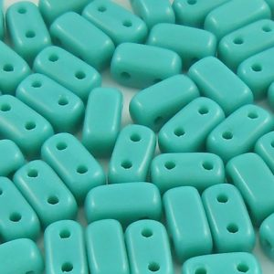 czechmates-2-hole-brick-beads-persian-turquoise