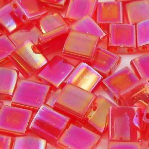 miyuki-tila-beads-transparent-red-ab