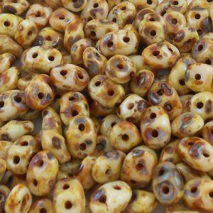 czech-superduo-beads-dark-cream-picasso
